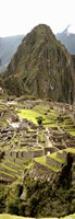 High angle view of an archaeological site, Machu Picchu, Cusco Region, Peru Fine-Art Print