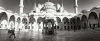 Courtyard of Blue Mosque in Istanbul, Turkey (black and white) Fine-Art Print