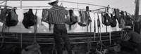 Cowboy with tacks at rodeo, Pecos, Texas Fine-Art Print
