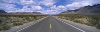 Road passing through a desert, Death Valley, California, USA Fine-Art Print
