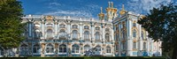 Facade of a palace, Catherine Palace, Tsarskoye Selo, St. Petersburg, Russia Fine-Art Print