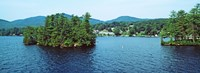 Wooded island, Lake George, New York State, USA Fine-Art Print
