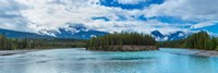 Clouds over mountains, Athabasca River, Icefields Parkway, Jasper National Park, Alberta, Canada Fine-Art Print