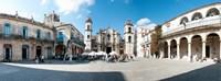 Facade of a cathedral, Plaza De La Catedral, Old Havana, Havana, Cuba Fine-Art Print