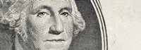 Details of George Washington's image on the US dollar bill Fine-Art Print