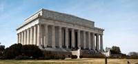 Facade of the Lincoln Memorial, The Mall, Washington DC, USA Fine-Art Print