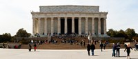 People at Lincoln Memorial, The Mall, Washington DC, USA Fine-Art Print