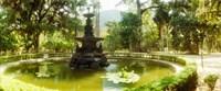Fountain in a botanical garden, Jardim Botanico, Corcovado, Rio de Janeiro, Brazil Fine-Art Print