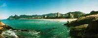 Tourists on the beach, Ipanema Beach, Rio de Janeiro, Brazil Fine-Art Print