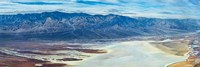 Salt flats viewed from Dantes View, Death Valley, Death Valley National Park, California Fine-Art Print