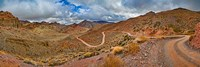 Road passing through landscape, Titus Canyon Road, Death Valley, Death Valley National Park, California, USA Fine-Art Print