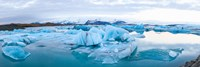 Icebergs floating in glacial lake, Jokulsarlon, South Iceland, Iceland Fine-Art Print
