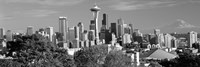 View of city in black and white, Seattle, King County, Washington State, USA 2010 Fine-Art Print