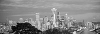 View of Seattle and Space Needle in black and white, King County, Washington State, USA 2010 Fine-Art Print