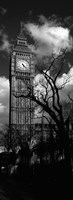 Big Ben, London, England, United Kingdom (black and white) Fine-Art Print