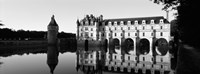 Chateau de Chenonceaux Loire Valley France (black and white) Fine-Art Print