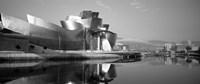 Reflection of a museum on water, Guggenheim Museum, Bilbao, Spain Fine-Art Print