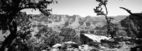 Mather Point in black and white, South Rim, Grand Canyon National Park, Arizona Fine-Art Print