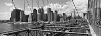 Traffic on Brooklyn Bridge, Manhattan Fine-Art Print