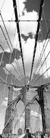 Brooklyn Bridge, Manhattan, New York City (black and white, vertical) Fine-Art Print