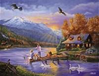 Grandpa's Cabin Fine-Art Print