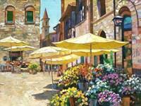 Siena Flower Market Fine-Art Print