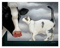 Cow and Cat Fine-Art Print