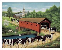 Cows in West Arlington Fine-Art Print