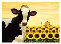 Sunflower Cow Fine-Art Print