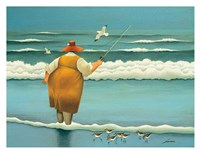 Surfside Fishing Fine-Art Print