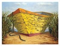 Yellow and Orange Rowboat Fine-Art Print