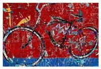 Red Graffiti Bike Fine-Art Print