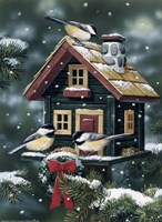 Winter Birdhouse Fine-Art Print