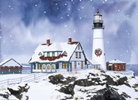 Lighthouse In Winter Fine-Art Print