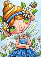 Daisy Flower Fairy Fine-Art Print