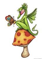 Toadstool Sitter - Dragon Fine-Art Print