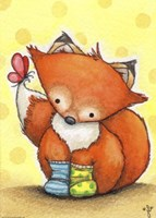 Little Fox in Socks Fine-Art Print