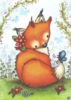 Little Fox in the Garden Fine-Art Print