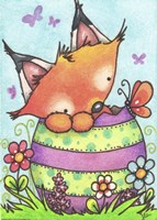 Happy Easter Little Fox Fine-Art Print