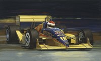 Yellow Race Car Fine-Art Print