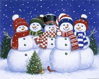 Five Snowmen Fine-Art Print