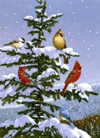 Songbirds On A Limb Fine-Art Print