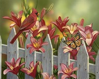 Cardinal and Lilies Fine-Art Print