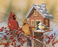 Winter Birds Buffet Fine-Art Print