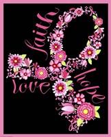 Pink Ribbon Floral Fine-Art Print