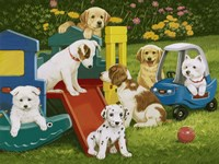 Puppy Playground Fine-Art Print