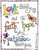 Words of Love - Never Fails Fine-Art Print