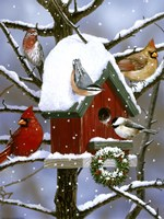 Red Birdhouse Fine-Art Print
