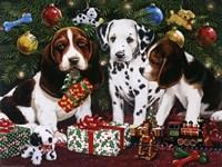 Christmas Puppies 2 Fine-Art Print