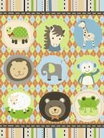 Baby Boy Animal Friends Fine-Art Print